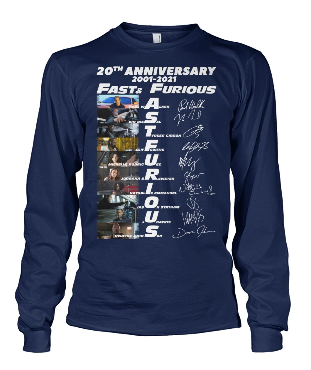 20th anniversary fast and furious long sleeve tee