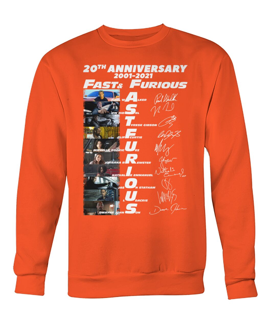 20th anniversary fast and furious sweatshirt