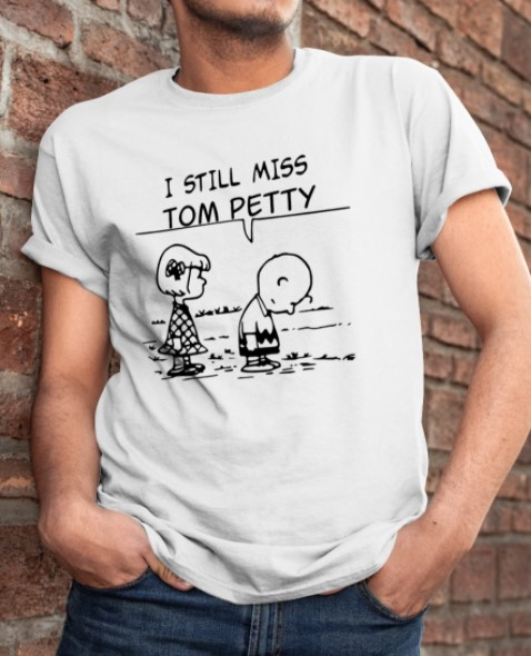 Snoopy and Charlie Brown I still miss tom petty shirt
