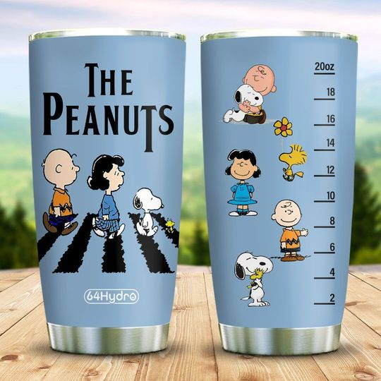 The peanuts Snoopy Charlie Brown abbey road tumbler
