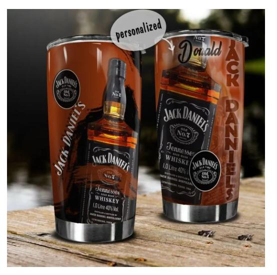 Jack Daniels custom name tumbler