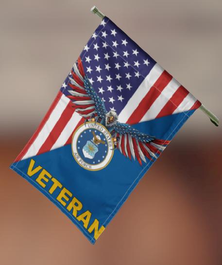 United States Air Force Veteran flag 3