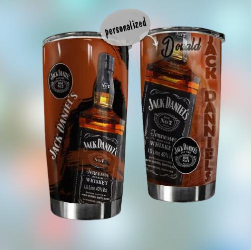 Jack Daniels custom name tumbler 2