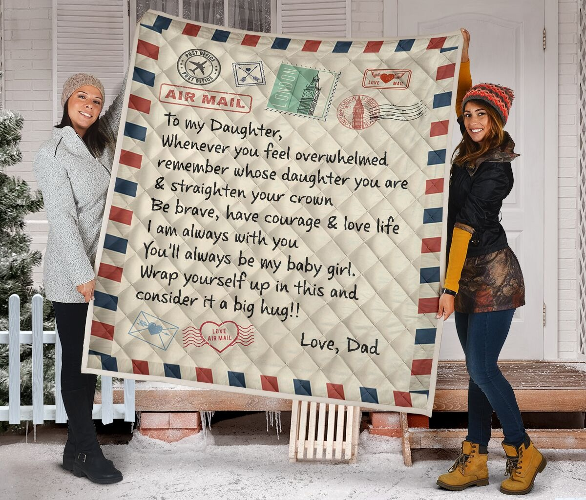 Air mail to my daughter rug 3