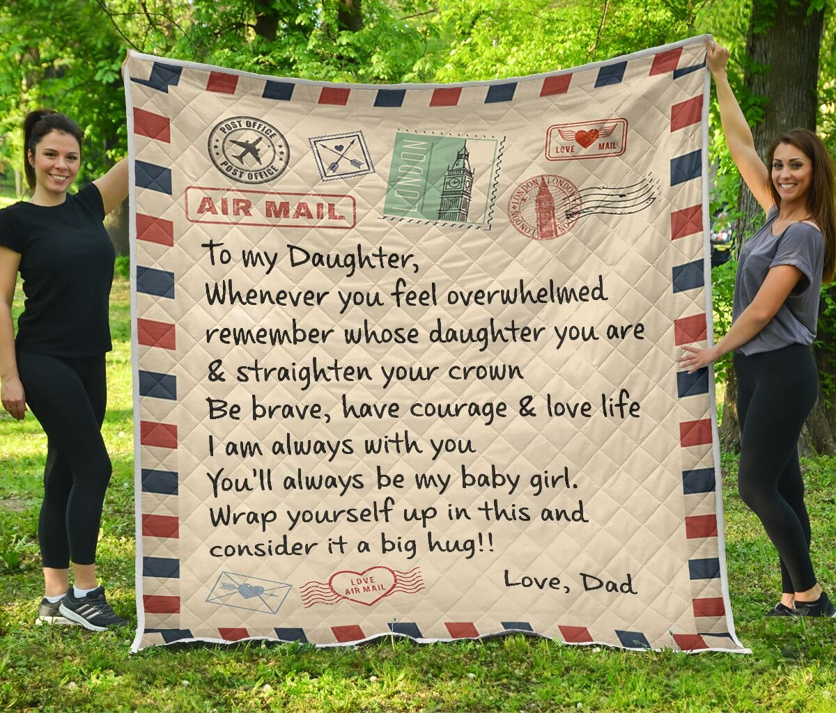 Air mail to my daughter rug 1
