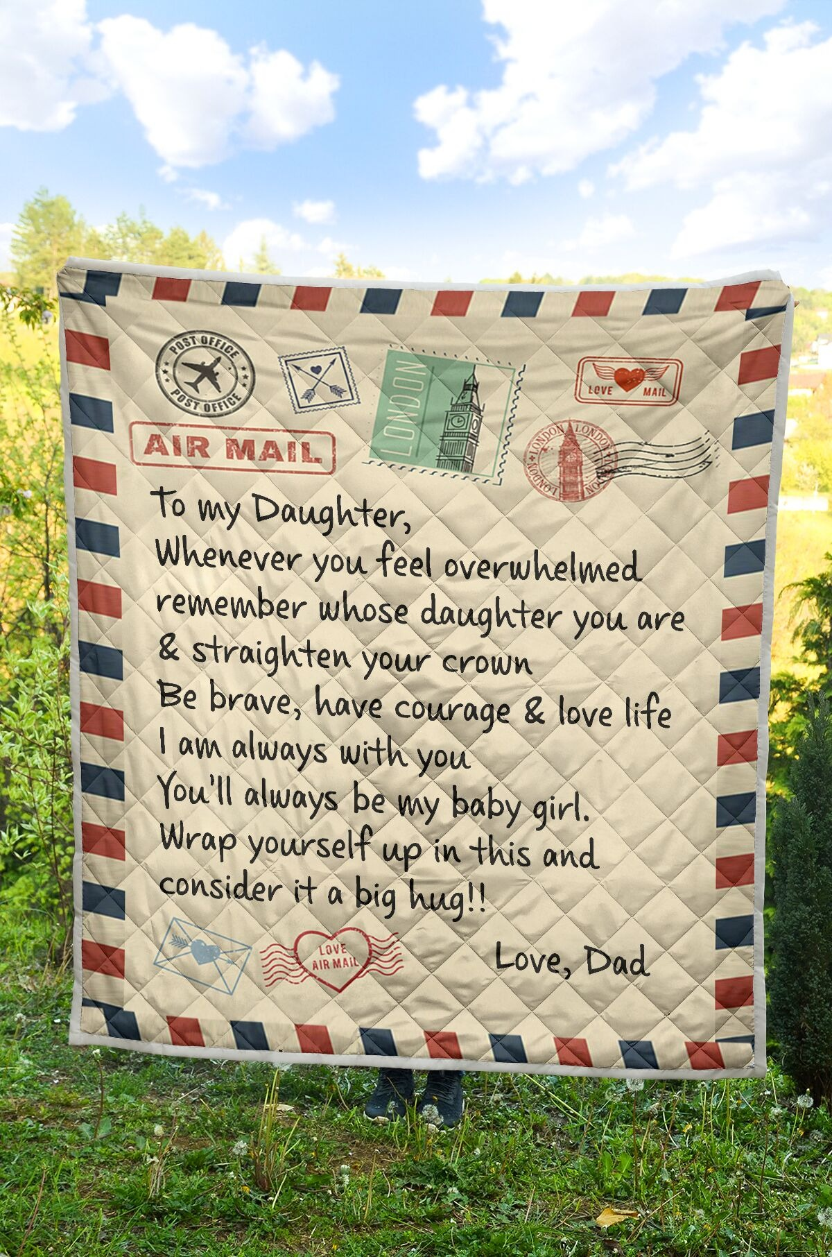 Air mail to my daughter rug 2