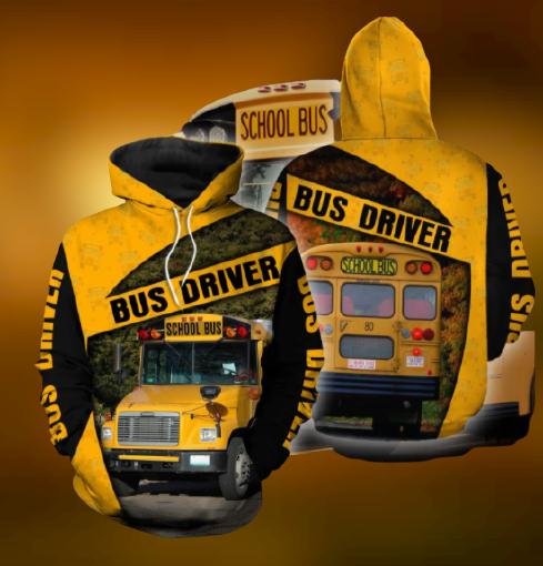 School bus driver hoodie 3D 3