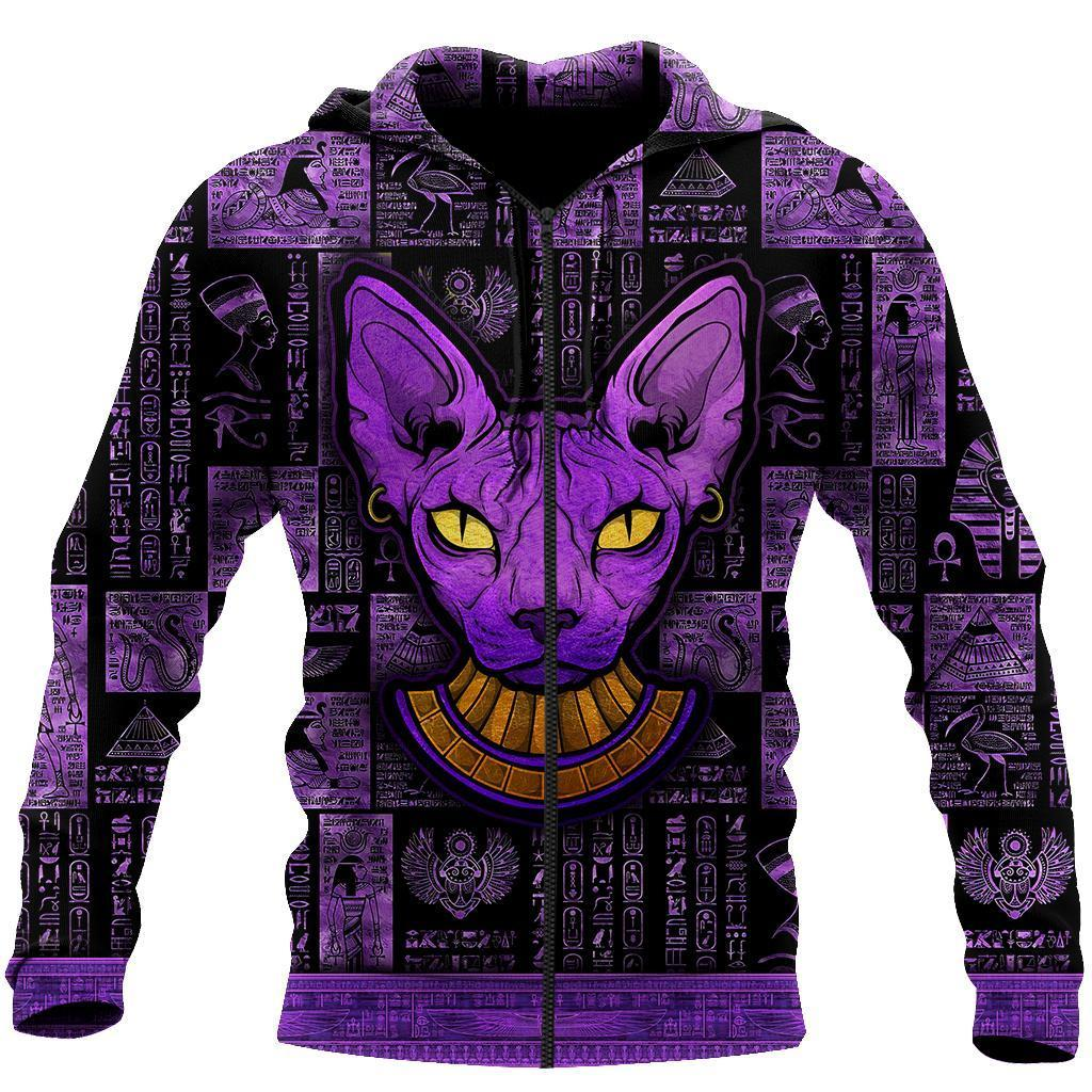 Egyptian sphynx cat hoodie 3D 16