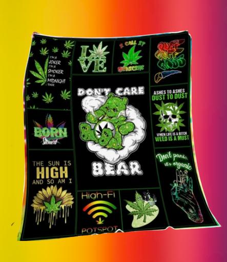 Don't care bear blanket 3