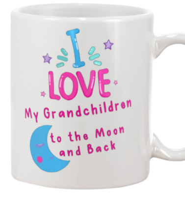 I love my grandchildren to the Moon and back mug
