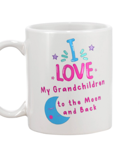 I love my grandchildren to the Moon and back mug 1