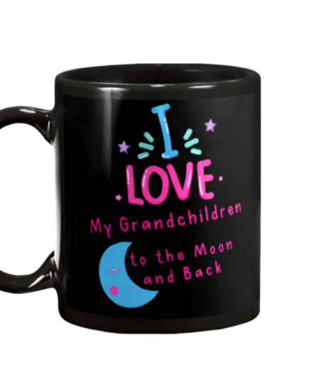 I love my grandchildren to the Moon and back mug 2