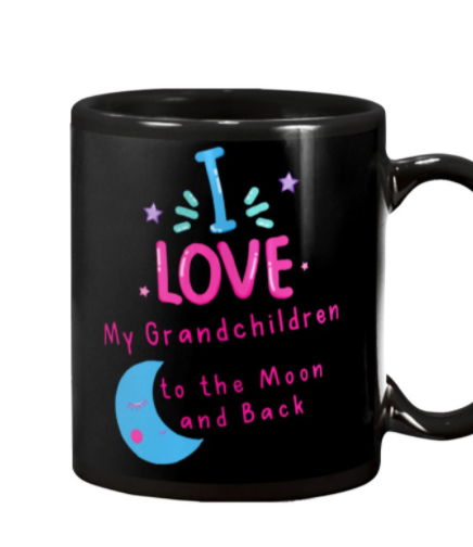 I love my grandchildren to the Moon and back mug 3