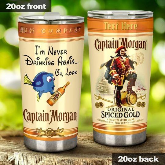 Dory I'm never drinking again Captain Morgan custom name tumbler