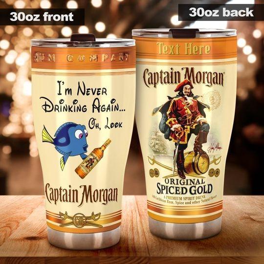 Dory I'm never drinking again Captain Morgan custom name tumbler 3