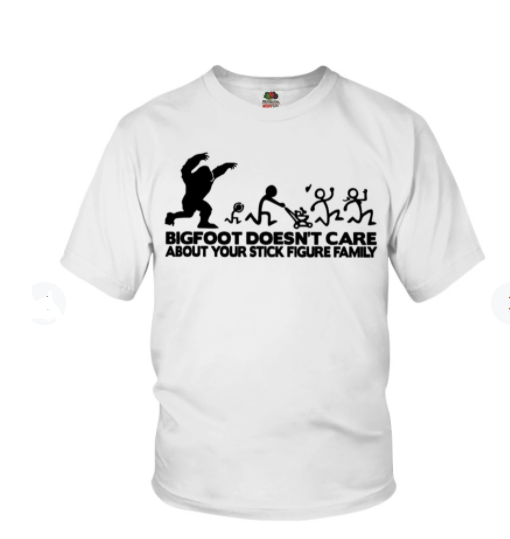 Bigfoot doesn't care about your stick figure family sticker 2