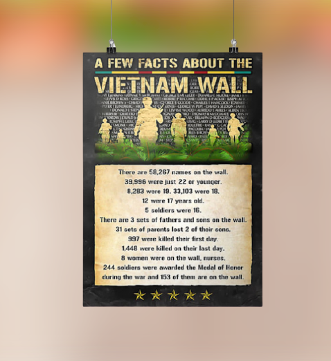 A few facts about the Vietnam wall poster 3