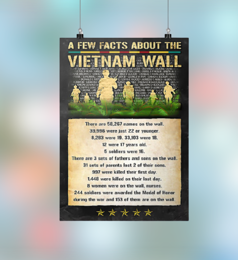 A few facts about the Vietnam wall poster 2