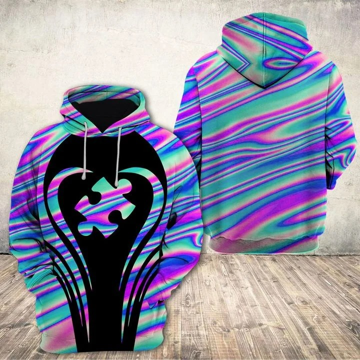 Autism Awareness holographic 3d hoodie and legging 3
