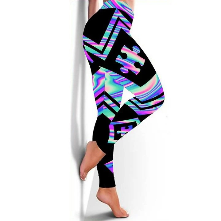 Autism Awareness holographic 3d hoodie and legging 2