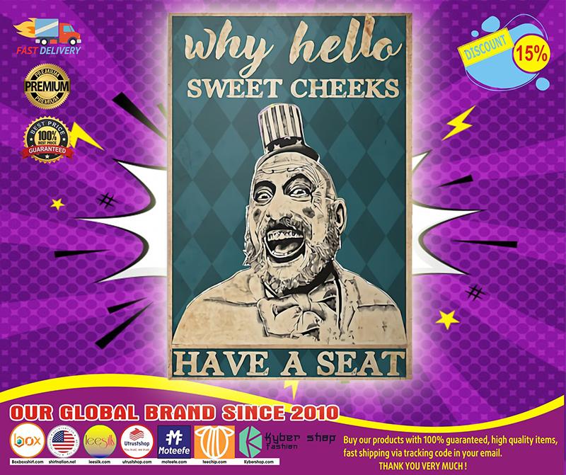 Captain Spauling hello sweet cheeks poster 4