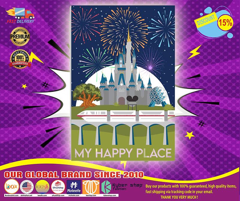 Disney Castle My happy place poster 4