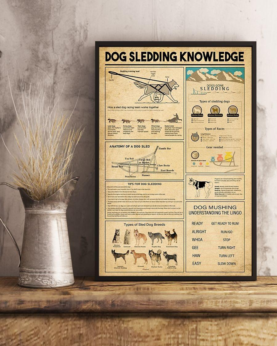 Dog sledding knowledge poster 1