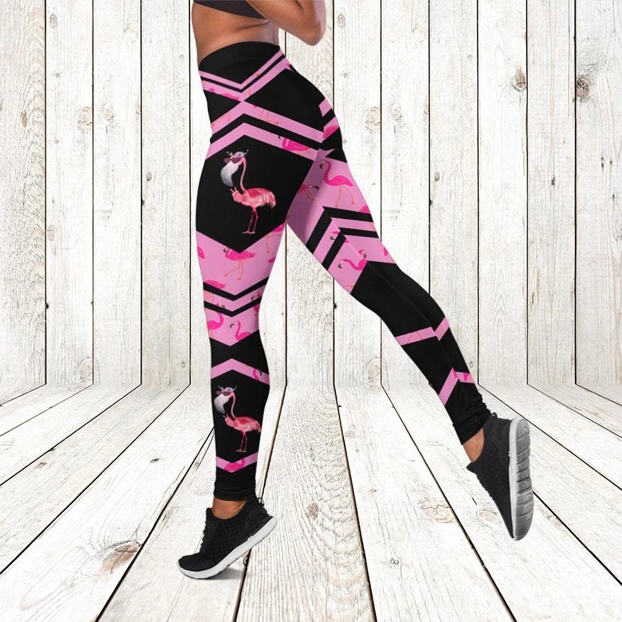 Flamingo 3d hoodie and legging 2