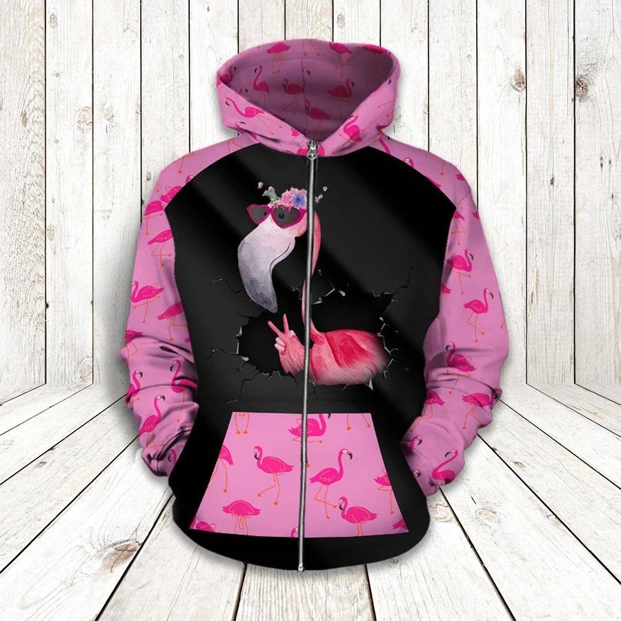 Flamingo 3d hoodie and legging 1