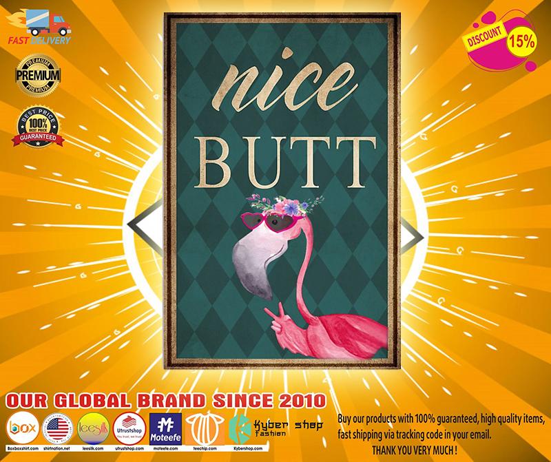 Flamingo nice butt poster 1