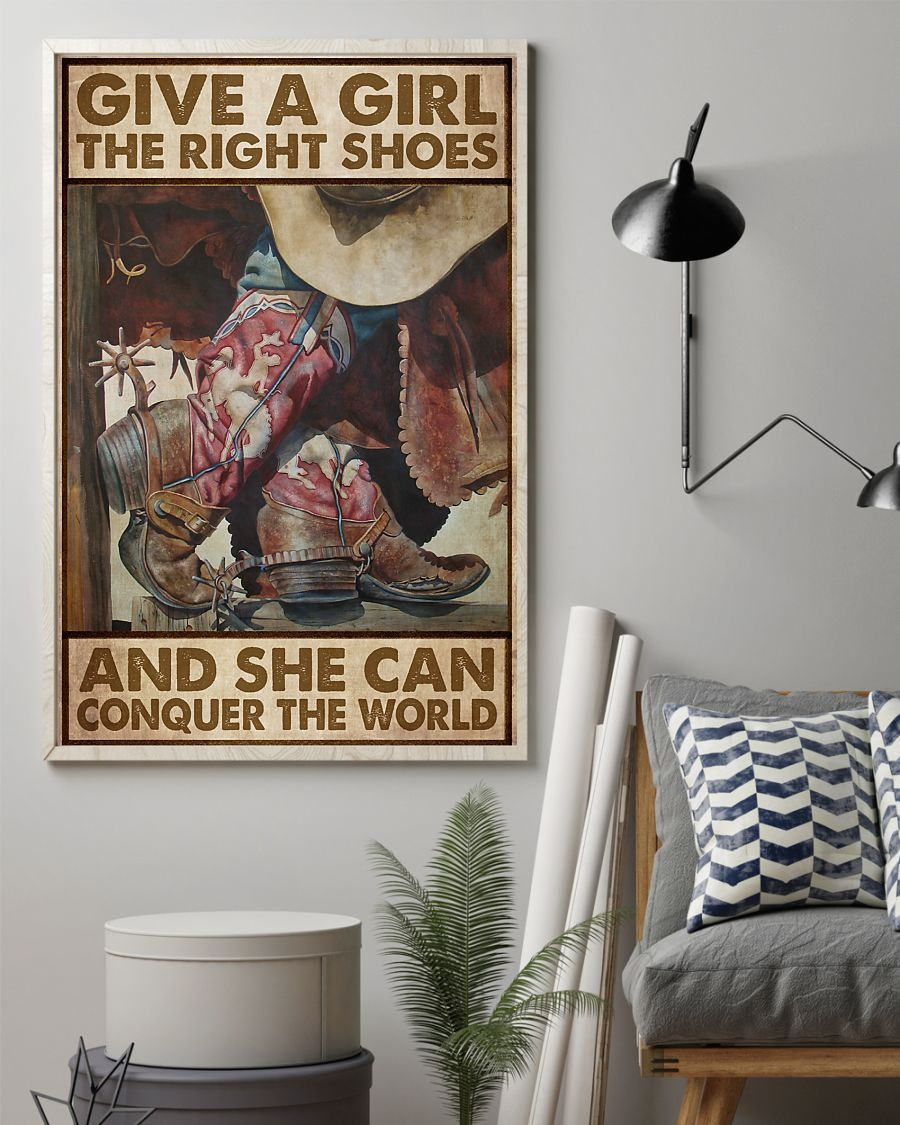 Give a girl the right shoes and she can conquer the world poster 3