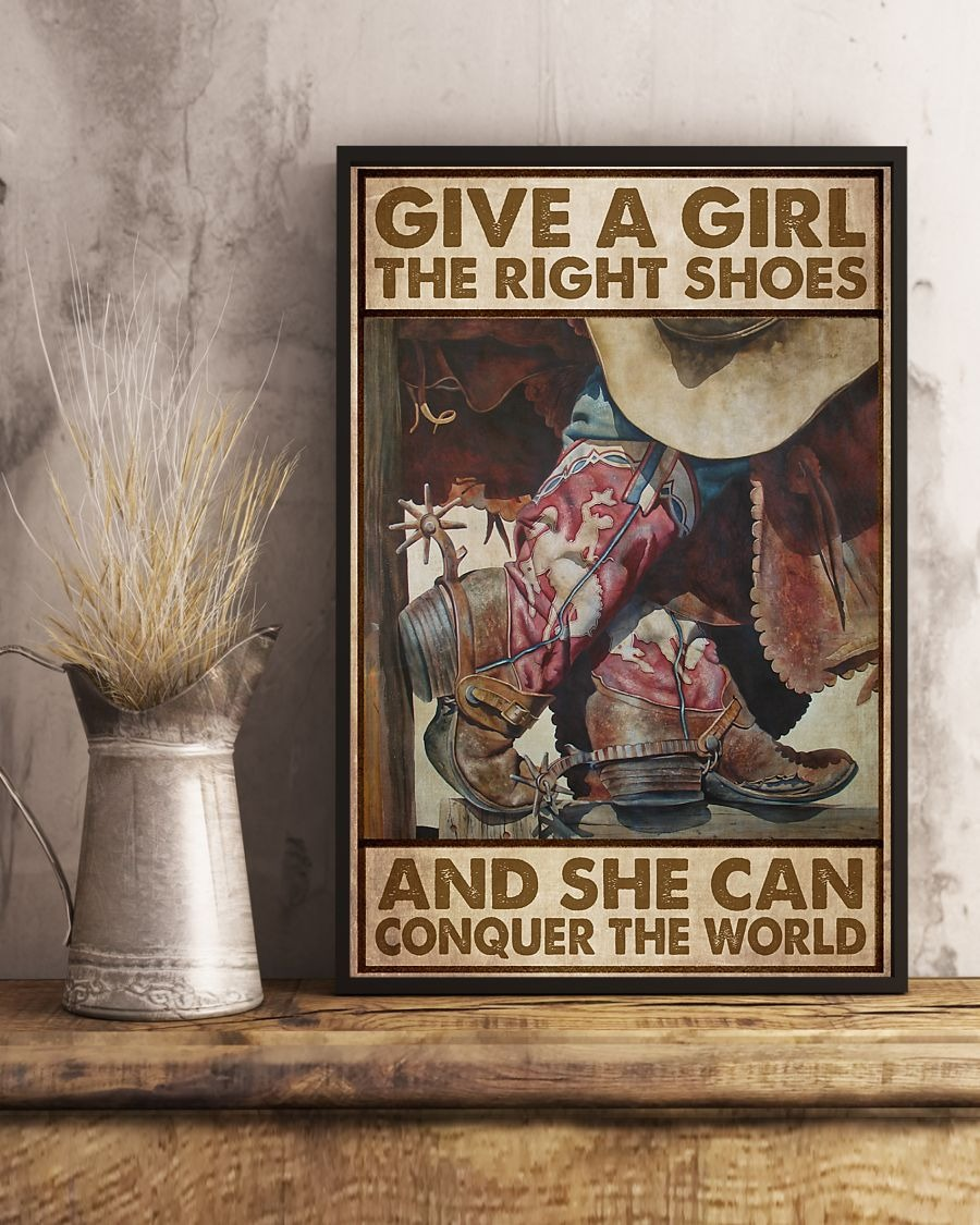 Give a girl the right shoes and she can conquer the world poster 1
