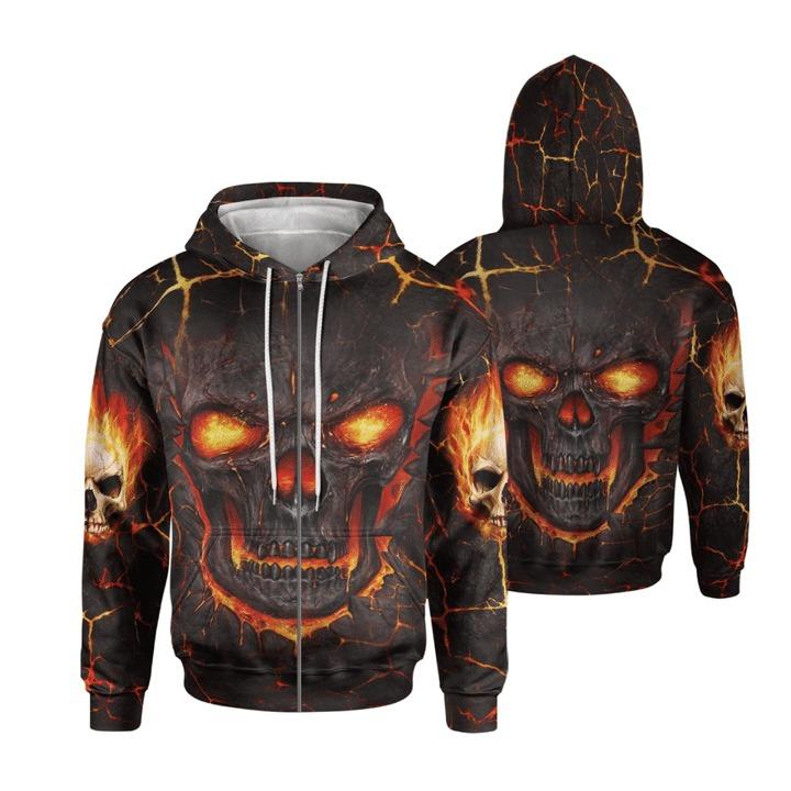 Lava skull hoodie and legging 1