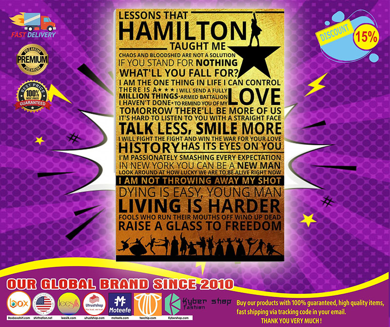 Lessons that hamilton taught me poster 4