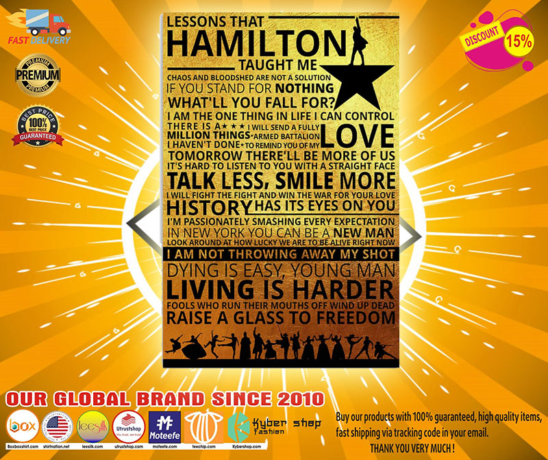 Lessons that hamilton taught me poster 3