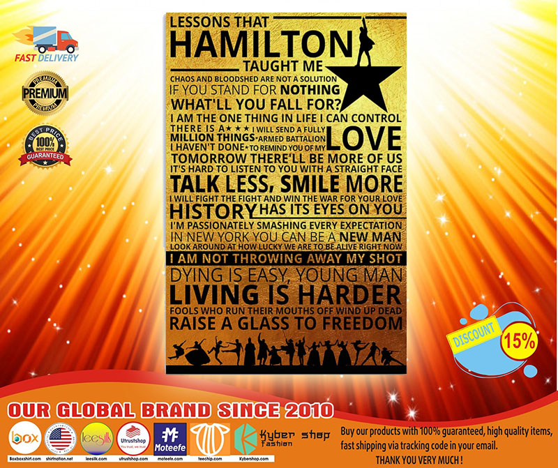 Lessons that hamilton taught me poster 2