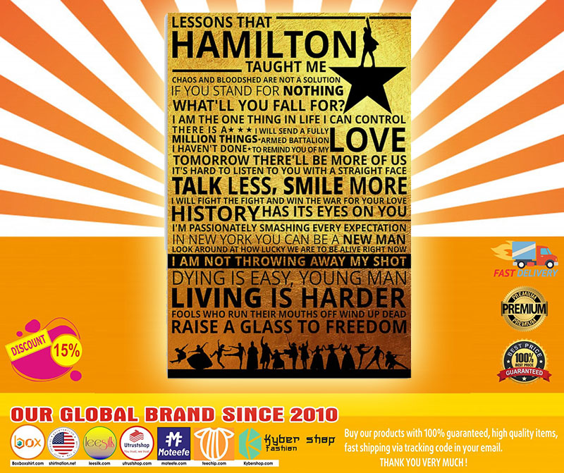 Lessons that hamilton taught me poster 1