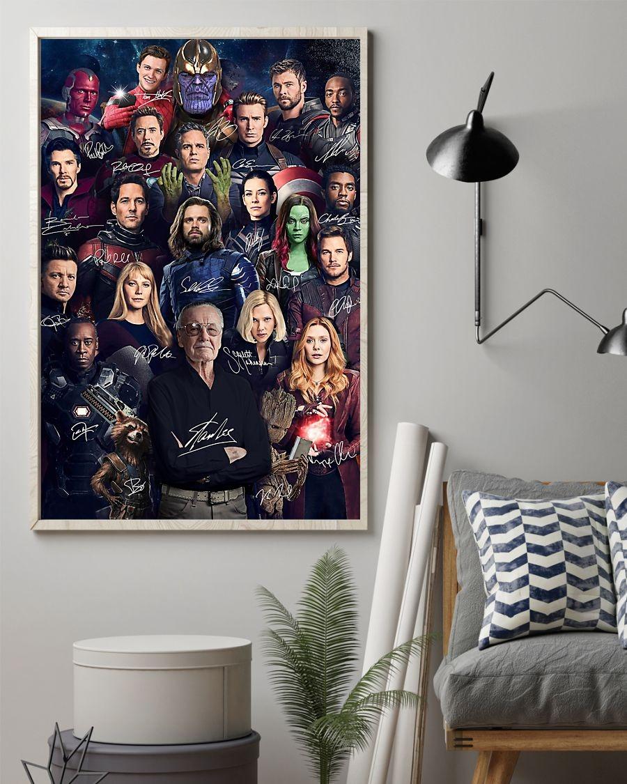 Marvel Avenger signatures poster 3