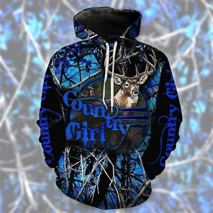 Moose country girl 3d hoodie and legging 2