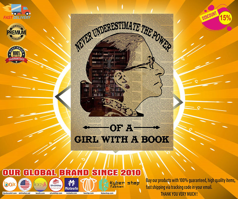 Never underestimate the power of a girl with a book Ruth Bader Ginsburg poster 3