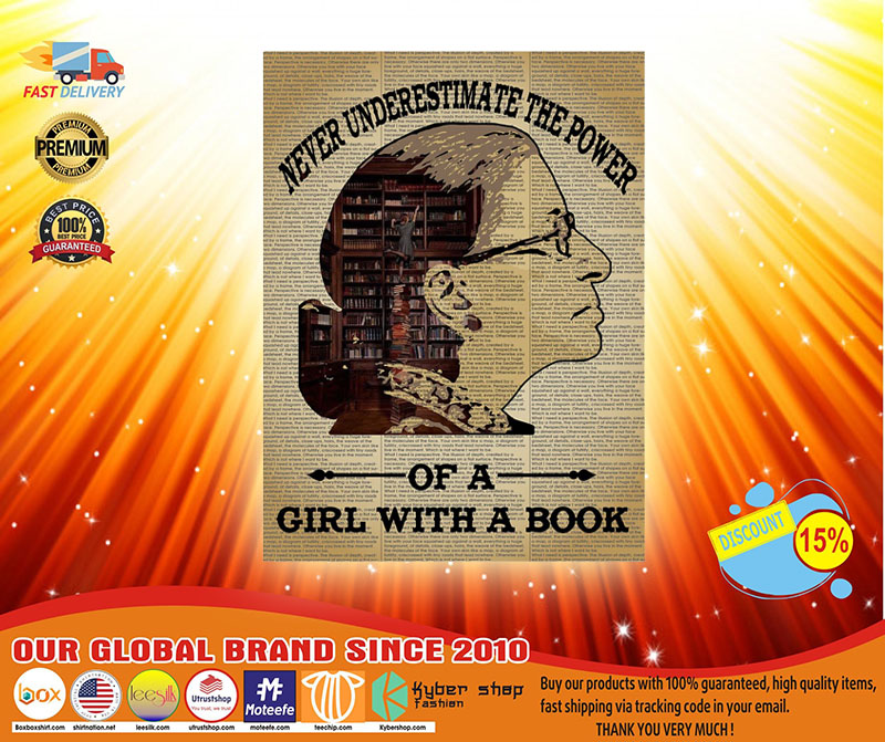 Never underestimate the power of a girl with a book Ruth Bader Ginsburg poster 2