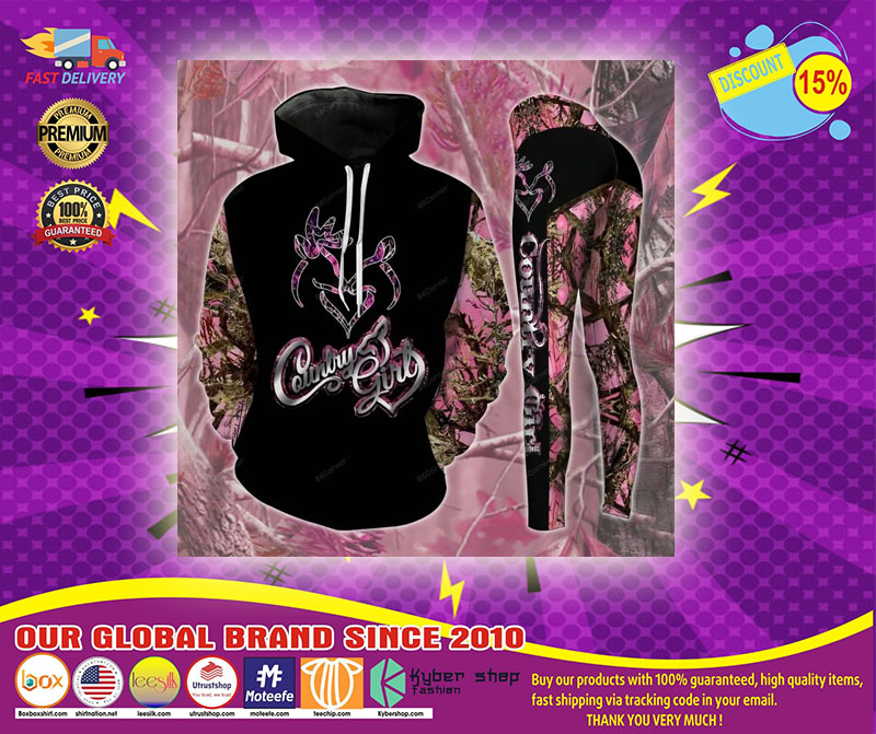 Pink Country girl 3d hoodie and legging 4