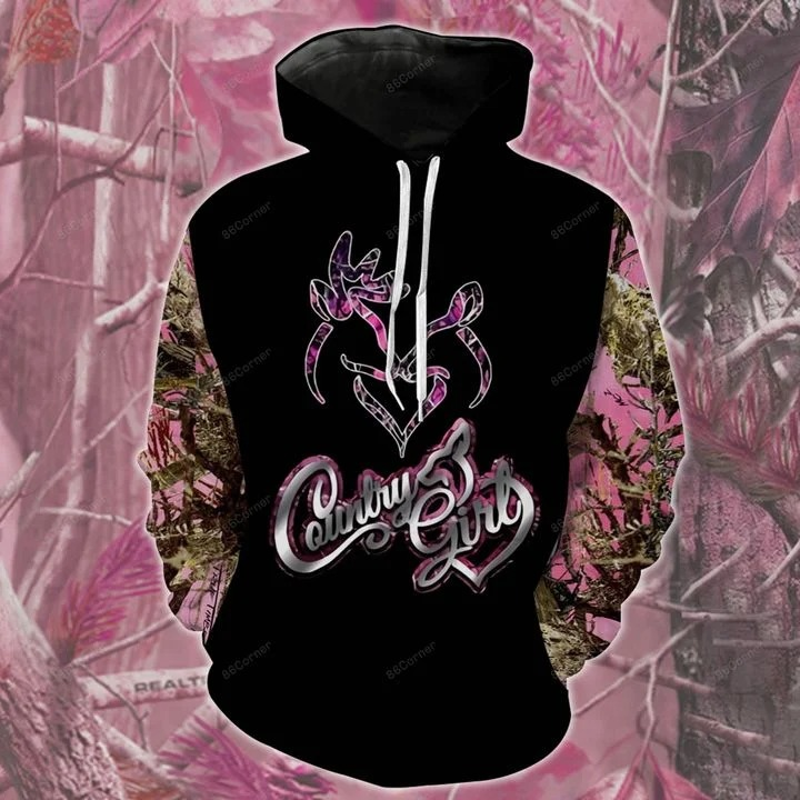 Pink Country girl 3d hoodie and legging 3