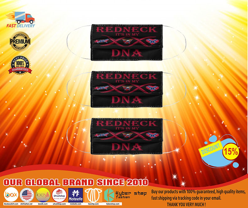 Redneck it's in DNA face mask 2