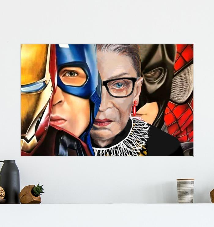 Ruth Bader Superhero poster 2