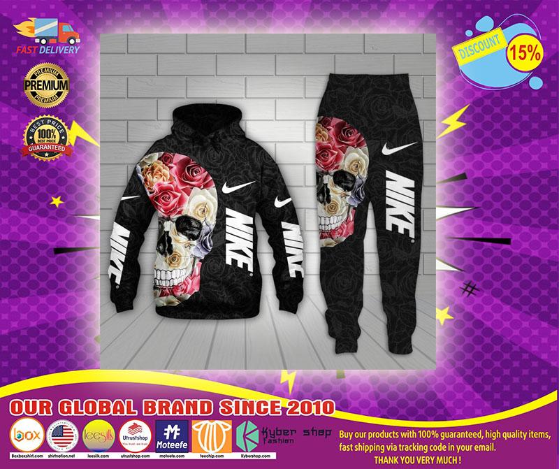 Skull Nike 3d hoodie and long pant 4