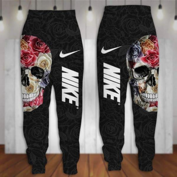 Skull Nike 3d hoodie and long pant 2