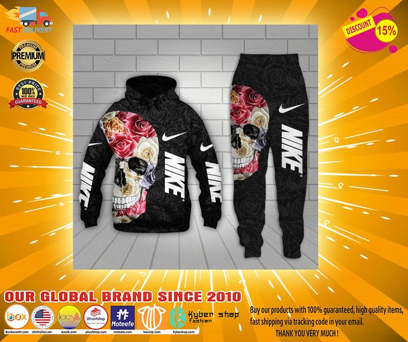 Skull Nike 3d hoodie and long pant 1