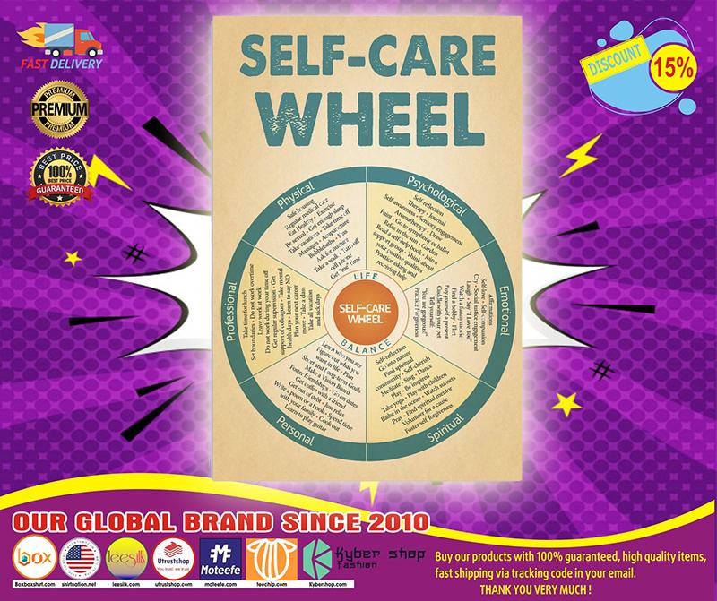 Social worker self care wheel poster 4