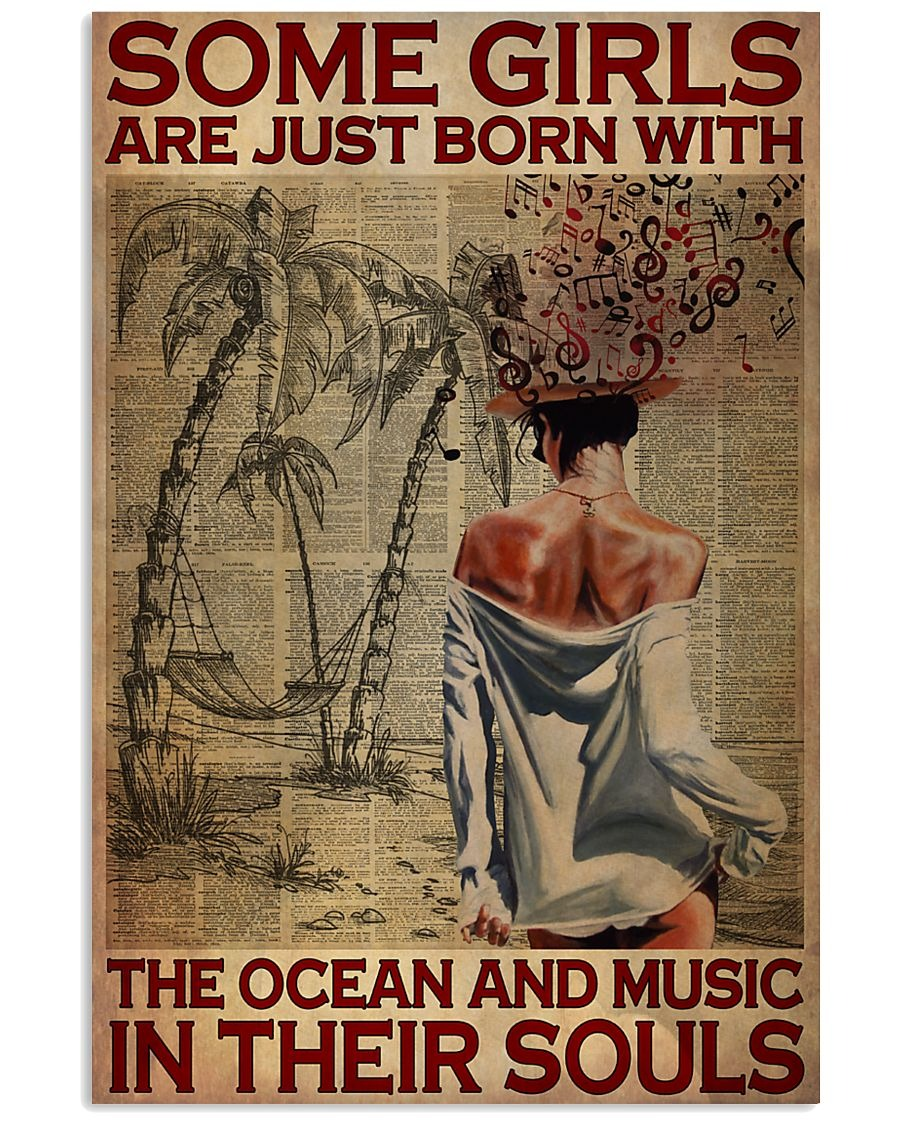 Some girls are just born with the ocean and music in their souls poster 2